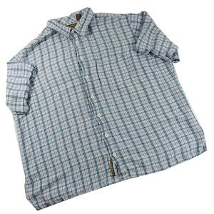 Cubavera Shirt 3 XLT Blue White Red Plaid